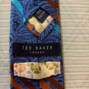Ted Baker Men's Silk Necktie Blue